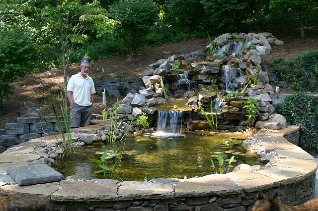Man Made Waterfalls  Helping Brentwood Estate Property?